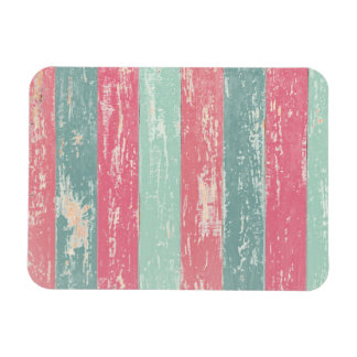 Pink and Green Rustic Wooden Fence Grunge Texture Magnet