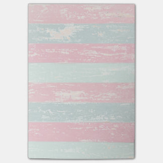 Pink and Green Rustic Wooden Fence Grunge Texture Post-it Notes