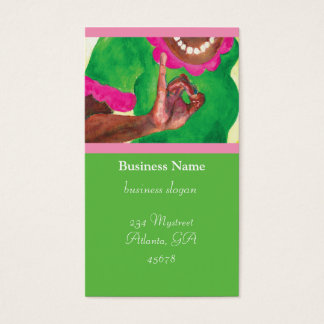 Pink and Green Sorority Cards