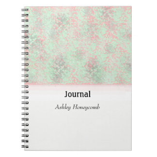 Pink and Green Spatter Abstract Journal