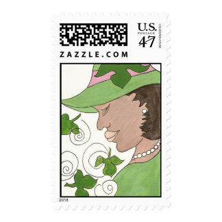 Pink and Green stamp