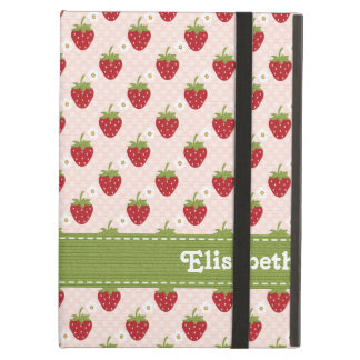 Pink and Green Strawberry iPad Air Covers