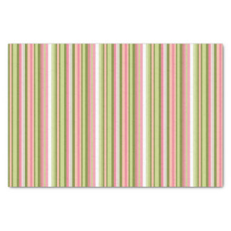 Pink and Green Stripe Tissue Paper