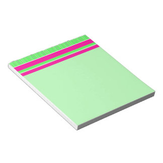 Pink and Green Stripes Notepad