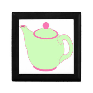 Pink and Green Teapot Jewelry Box