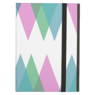 Pink and green triangles case for iPad air