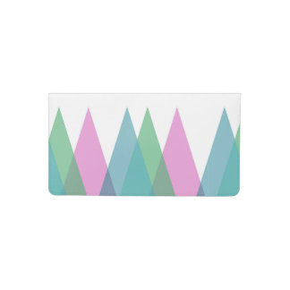 Pink and green triangles checkbook cover