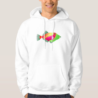 Pink and Green Tropical Fish Hoodie
