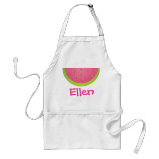 Pink and Green Watermelon Personalized Apron