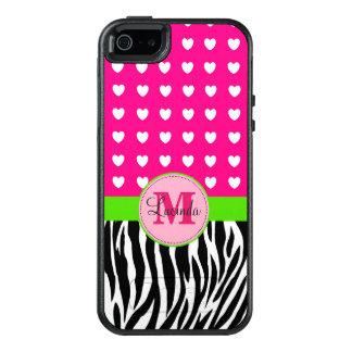 Pink and Green Zebra Custom Otterbox Case