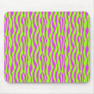 Pink and Green Zebra Print Mouse Pad