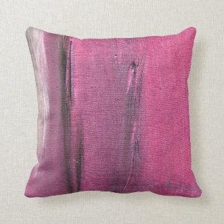 Pink and Grey Abstract Colorscape American MoJo Pi Throw Pillow