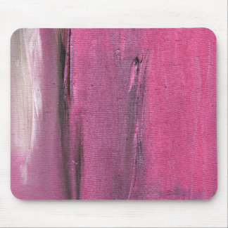 Pink and Grey Abstract Colorscape Painting Mouse Pad