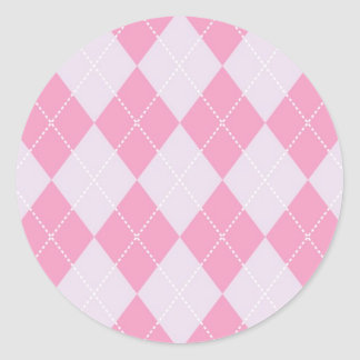 Pink and Grey Argyle Pattern Stickers