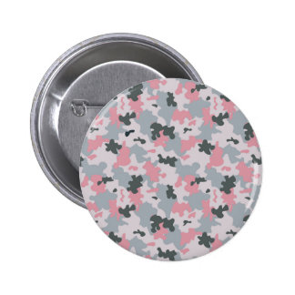 Pink and Grey Camouflage Button