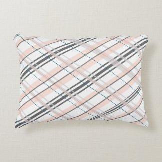 Pink and Grey Decorative Pillow