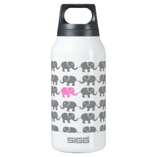 Pink and Grey Elephant Art Thermos Bottle
