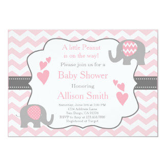 grey pink baby shower invitations & announcements | zazzle, Einladung