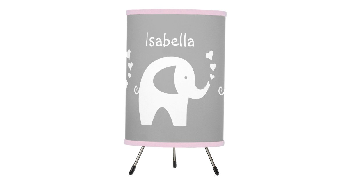 and lamp zazzle com nursery for elephant room pink grey baby