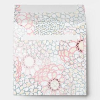 Pink and Grey Flower Burst Design Envelope