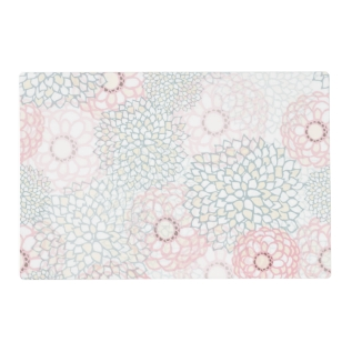 Pink And Grey Flower Burst Design Placemat at Zazzle