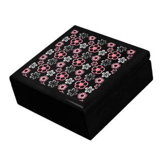 Pink and Grey Flower Pattern Keepsake Box