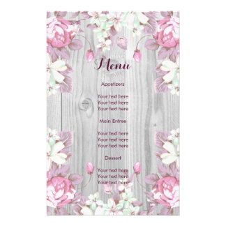 Pink and Grey Flowers Flyer