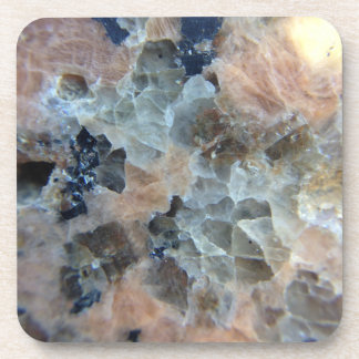 Pink and grey marble textures coaster set