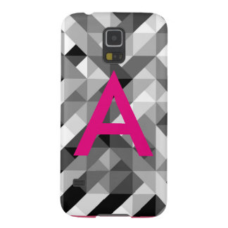 Pink and Grey Monogrammed Phone Case Cases For Galaxy S5