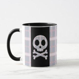 Pink and Grey Skull Mug