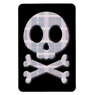 Pink and Grey Skull Vinyl Magnets