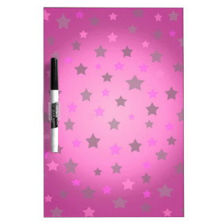 Pink and grey stars pattern dry erase board