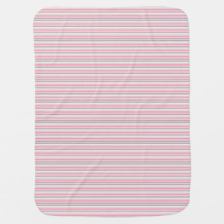 Pink and Grey stripes Baby Blanket