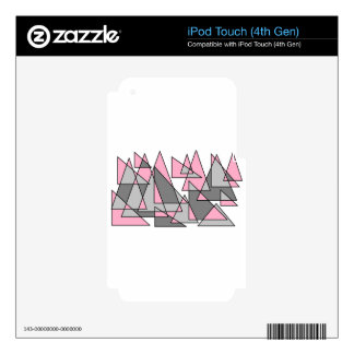pink and grey triangles.jpg skin for iPod touch 4G