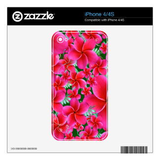 Pink and Intense Flowers, Wife Birthday Skin For The iPhone 4S