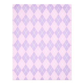 pink and lavender argyle pattern flyer