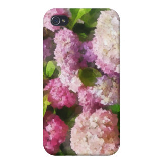 Pink And Lavender Hydrangea iPhone 4 Cases