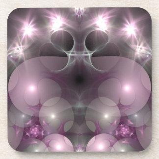 Pink and Lavender Lights Beverage Coaster