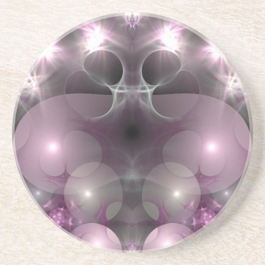 Pink and Lavender Lights Drink Coaster
