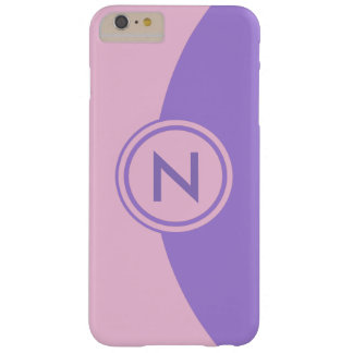 Pink and Lavender Monogram Barely There iPhone 6 Plus Case