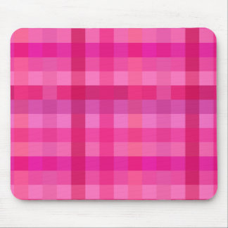 Pink and lavender plaid mouse pad