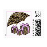 Pink And Leopard Print Gifts With Umbrella Postage