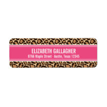 Pink and Leopard Print Label