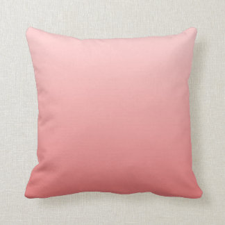 Pink and Light Coral Ombre Throw Pillow