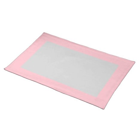 Pink and Light Gray Placemat