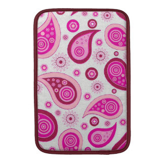Pink and lilac paisley pattern MacBook air sleeve
