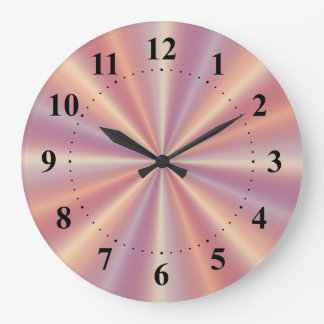 Pink and Lilac Pleats Wall Clock