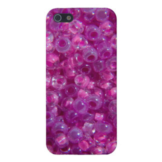 Pink and Lilac Seed Beads iPhone SE/5/5s Cover