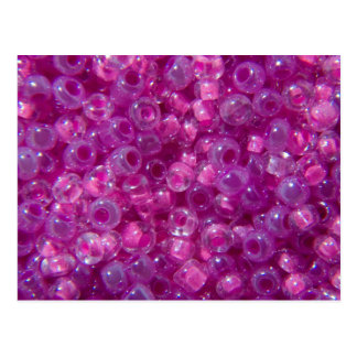 Pink and Lilac Seed Beads Postcard
