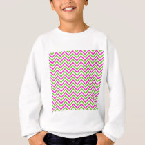 Pink and Lime Green Chevron Pattern Sweatshirt